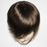 Wholesale men hair toupee quality for sale - Cheap Factory Price Top Quality Human Hair Fine Welded Mono Lace Immediate Delivery Toupee For Men