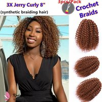 Wholesale kinky bulk hair wholesale online - Porpular hairstyle inch marley braid synthetic crochet Hair Extension x mali bob braids kinky curly bulk hair synthetic braiding hair