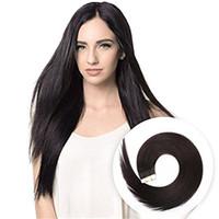 ingrosso estensione dei capelli di trama della pelle nera-Nastro nelle estensioni dei capelli naturali di colore nero 1B setosa trama di capelli dritti di Remy trama della pelle nelle estensioni dei capelli 20pcs 50g