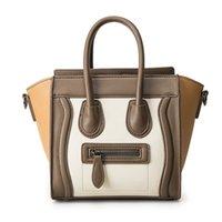 Wholesale Leather Smiley - Bolsos Mujer 2018 Trapeze Smiley Tote Bag Luxury Brand Pu Leather Women Handbag Shoulder Bag Famous Designer Crossbody Bags Sac