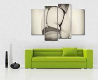sexy gerahmte leinwand großhandel-Sexy Ass 4 Stück Home Decor HD gedruckt moderne Kunst Malerei auf Leinwand (ungerahmt / gerahmt)