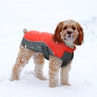 roupas para cães 5xl venda por atacado-Novo Design Waterproof Jacket Puppy Dog Vest Inverno Brasão Pet roupa morna Ropa Pará Roupa Para Pequenas Médias Grandes Cachorros S -5xl