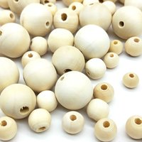 Wholesale wood beads bracelet accessories online - DIY mm Cheap Fashion Hot Beads Natural Round Loose Wood Beads for Jewelry Making Bracelet Necklace Accessories