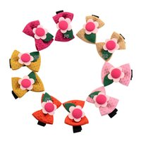 Wholesale little girls barrettes for sale - Group buy 10pcs Pink Bow Hair Clip Girls Hair Accessories Mini Hair Bow Clips Little Girls Cute Sunflower Bows Colors Available HD802