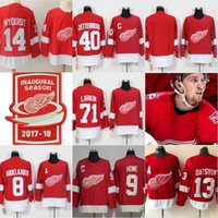 Wholesale Mr Orange - Detroit Red Wings (Stiched MR. I ,INAUGURAL Patch) 9 Howe 71 Dylan Larkin 40 Zetterberg 8 Abdelkader 14 Nyquist 13 Datsyuk Hockey Jersey