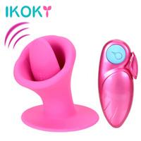 IKOKY Tongue Vibrator Suck Licking 10 Speed Nipple Clitoris Stimulator Oral Sex Massager Female Masturbator Sex Toys for Women S18101905