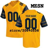 jerseys para niños baratos al por mayor-Cheap Custom Cal Bears jersey de la universidad para hombre mujeres jóvenes niños personalizada cualquier número de cualquier nombre cosido azul amarillo blanco camisetas de fútbol