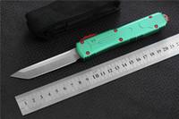 cuchillo de cocina de camping al por mayor-Envío gratis, MIKER VG-10 / D2 cuchilla de aluminio supervivencia para acampar al aire libre EDC caza herramienta táctica cena cuchillo de cocina