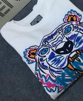 sudaderas sudaderas chaqueta suéter al por mayor-Hot Men Women Embroidere tiger logo sweater chándales chaqueta con capucha Sudaderas con capucha para mujer talla S-XXL