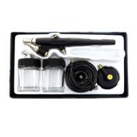 kits de pistolet de peinture d'air achat en gros de-138 aérographe art modèle mini peinture pistolet sspray outil air brosse kit peinture murale peint meubles réparation production de gâteau