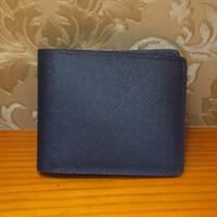 Wholesale Multiple Bags - Brand New! Men's MULTIPLE WALLET 100% Genuine Leather men wallets Short Billfold Brown Multiple Card M60895 Damier Infini N63124 Black bags