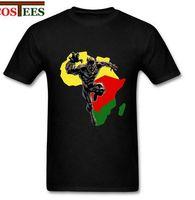 Wholesale Cotton Civil War - Black Panther T Shirt men Captain America Civil War T-shirt Marvel Avengers iron man Fitness Crossfit Africa Wakanda Map Top Tee
