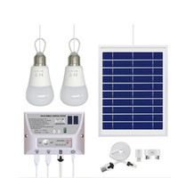 Wholesale solar panels home system for sale - Solar Panel Lighting Kit Solar Home DC System USB Solar Charger with LED Light Bulbs Emergency Light USB Port with CellPhone Chargers
