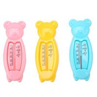 productos de panda al por mayor-Venta caliente Lovely Panda Water Thermometers Kid Flotante Peces Lindo Cuidado del Bebé Baño Ducha Producto Plástico Flotador Baby Boy Girl Bath ToyTester
