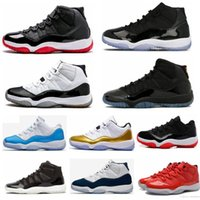 Wholesale Box Culture - With Box High Quality 11 Space Jam Bred Concord Basketball Shoes Men Women shoes 11s Gym Red Navy Gamma Blue 72-10 Sneakers