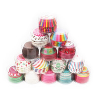 Wholesale cupcake cases supplies - Fast shipping 100Pc Paper Cake Forms Cupcake Baking Cup Case Party Cake Decoration Cupcake Paper Party Supplies Baking Tools Muffin Cupcake