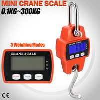 Wholesale industrial cranes online - 300kg Mini Crane Scale LCD Electronic Digital Display Industrial Hook Hanging Weight Scale Colors AAA737