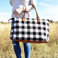 çanta çantası kırmızı toptan satış-Buffalo Depolama Hamile Saplı Çantalar PU ile Çanta Kırmızı Siyah Ekose Çanta Büyük Kapasiteli Seyahat Bez Kontrol OOA6384
