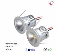 Wholesale mini spotlight bulbs 12v resale online - 1W Mini Recessed Cabinet Spotlight Downlight Lamp mm CutOut Ra Lm W V Ceiling Spot Lamp Star Bulbs Spotlights