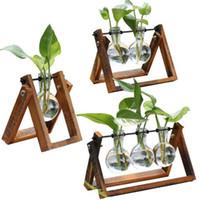 lebende vasen großhandel-Neue Blumen Vase für Wohnkultur Wohnzimmer Dekoration transparent Glasbehälter versandkostenfrei