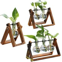 vases transparents achat en gros de-Nouveau vase de fleurs pour la décoration de la maison décoration salon transparent contenant de verre livraison gratuite