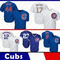 Wholesale kris bryant - Top quality Chicago Jersey Cubs 44 Anthony Rizzo 17 Kris Bryant 9 Javier Baez 12 Kyle Schwarber 23 Ryne Sandberg Baseball Jerseys