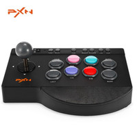 Wholesale Usb Arcade Joysticks - PXN - 0082 Arcade fightstick Game Joystick Wired USB Rocker Gampad Gaming Handle Controllers for PC,PS4,PS3,Xbox one