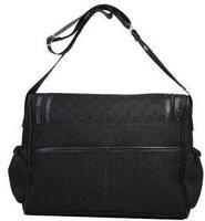 bolsa de spandex negro al por mayor-Venta caliente A Estrenar Para Mujer Lienzo Hobo Bebé Bolsas de Pañal Bolsos de Hombro Marrón Negro Rosa Blanco Bebé Bolsas de Pañales Momia Madre Bolsos