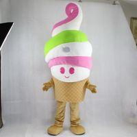 Wholesale Ice Cream Mascot Costumes - High quality EVA Material ice cream Mascot Costumes Cartoon Apparel Birthday party Masquerade WS883