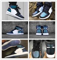 Wholesale Cheap Hi Tops - Wholesale New Arrival 2017 Hot Sale Air Retro 1 All Star Basketball Shoes cheap Hi AS OG Men High Top Chameleon Fashion Blac