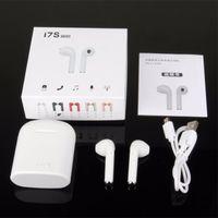 ingrosso mini scatole di musica del bluetooth-I7 i7s TWS Twins Mini Wireless Bluetooth 4.2 Cuffie stereo caricabatterie musica per Android iPhone X Samsung i9s con scatola