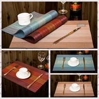 Wholesale Disposable Mats - Hotel Colorful PVC Insulated Placemats Disposable Pads Environmental Non-Slip Table Mat Dish Kitchen Home Tableware Pads AAA59