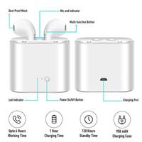 iphone bluetooth headphones preço venda por atacado-Whole sale prices TWS-i7 Dual Sem Fio Bluetooth Headphones Earbuds Fones De Ouvido com Carregador Caso Bluetooth Earbuds para IOS, Android Tabela