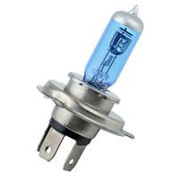 Wholesale halogen xenon bulbs for sale - 2PCS L V W H4 Halogen Lamp k Car Halogen Bulb Xenon Dark Blue Glass Super White car light source parking