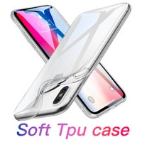 Wholesale s8 case online - For iPhone XS Max XR Clear Soft TPU Case For Samsung Galaxy S8 mm Transparent Silicon Gel Case For Iphone X Galaxy S9 Plus with Bag