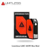 Wholesale Electronic Cigarette Plate - New Version Original Limitless LMC 200W TC Box Mod Kit With Interchangeable Plates Electronic Cigarette Fashion USA Vape
