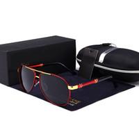 gafas de sol de marca de diseñador polarizadas al por mayor-Gafas de sol para hombre Diseñador de la marca Pilot Polarized Hombre Gafas de sol Gafas gafas de sol masculino Para hombres Erkek gozluk