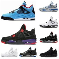Wholesale games race for sale - Group buy 4 s Pure Money basketball shoes sneakers for men Black White Cement Bred fear Game Royal athletic men Sport designer shoes trainer scarpe