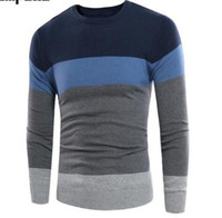 Wholesale knitted fashionable clothing for sale - Fashionable Design Casual Men s Sweater Autumn Winter New Wool Male Pullovers Top Quality Striped Men Slim Fit Knitting Clothing