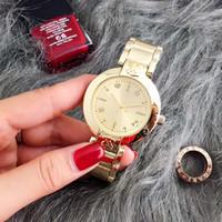relógios impermeável feminina venda por atacado-2017 dos homens de quartzo das mulheres novas assistem mecânicos de moda bling senhoras casuais feminino à prova d 'água marca mchael cristal diamante relógio venda quente