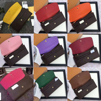 Wholesale peach candies - 2018 free shpping Wholesale red bottoms lady long wallet multicolor designer coin purse Card holder original box women classic zipper pocket