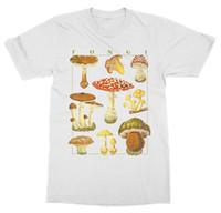 Wholesale black fungus online - Short Sleeve For Men Clothing Summer Mushrooms T Shirt Funghi Fungus Botanical Garden Plant Print Art Fruit Flower Tee Shirt