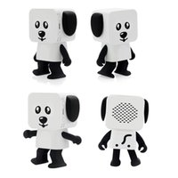 Wholesale mini speakers for kids online - 2018 Mini Super Cut Smart Dancing Robot Dog Bluetooth speaker Multi portable Bluetooth Speakers New years Christmas Gift For Child Kids pc