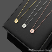 Wholesale ps designs online - New arrival Special design T and round shape with Cubic Zirconia Diamond Stone Pendant Necklaces in cm For Women necklace jewelry gifts PS