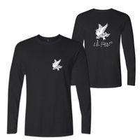 xs rock t shirt toptan satış-R.I.P Lil Peep Rock and Roll Erkekler Müzik T Shirt Pamuk Uzun Kollu O-Boyun Tee Gömlek Hip Hop Rap Erkekler T-shirt Erkek Giyim 4XL