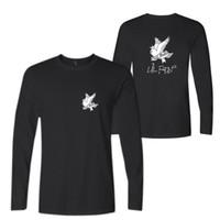 ingrosso vestiti di musica rock-R.I.P Lil Peep Rock and Roll Men Music T-Shirt in cotone a manica lunga O-Collo T-Shirt Hip Hop Rap Uomo T-Shirt Abbigliamento maschile 4XL