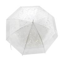 guarda-chuvas de gato venda por atacado-Umbrella Yesello 1 PCS Romântico Imitação Rendas Transparente Gato Bonito Grande Chuva Longa Vento Guarda-chuva para Lolita Mulheres de Viagem