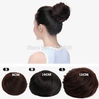 chignons toptan satış-Yeni Kraliçe Peruca Styling Araçları Sentetik Sahte Saç Bun Saç Chignons Rulo Bunburn Postiş Klip Kadınlar için Çörekler Peruk