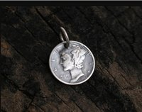 colgante de mercurio al por mayor-1944 MERCURY HEAD DIMES coin Pendant