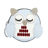 Wholesale cute owl wallets - HNXZXB Owl coin purses women wallets small cute cartoon kawaii card holder key money bags for girls ladies purse kids children